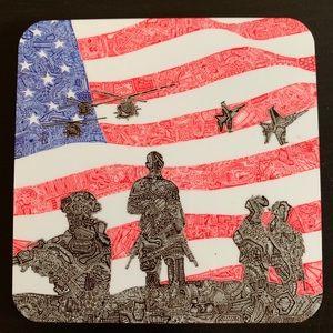 Other - • Patriotic USA Handmade Coaster •